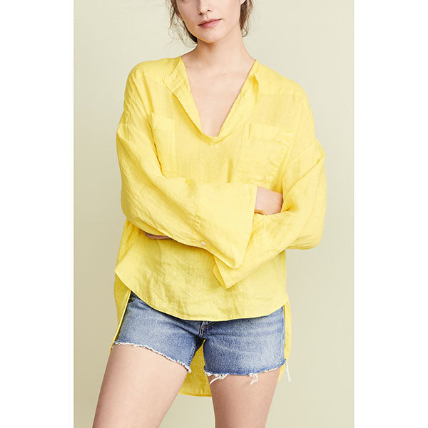 Daily Loose V-neck Casual Blouse