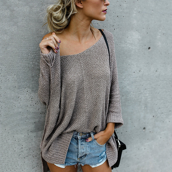 Women's Loose Off-The-Shoulder Sweaters