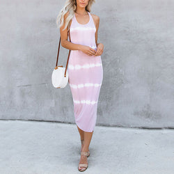 Casual Stripe Sleeveless Dress