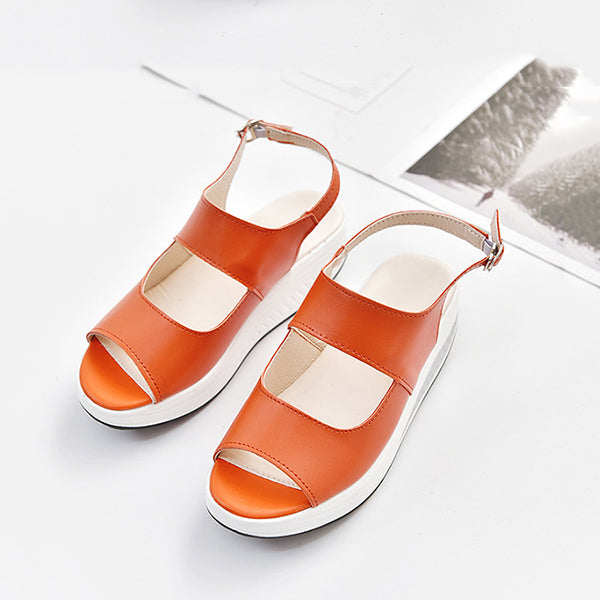Wedge Simple Open Toe Sandals