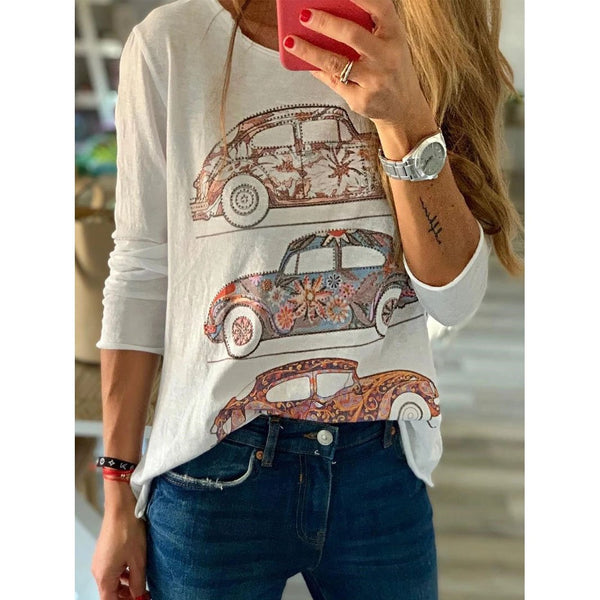Long Sleeve Round Neck Casual T-Shirts