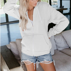 Fall Hooded Long Sleeve Plus Size Coats
