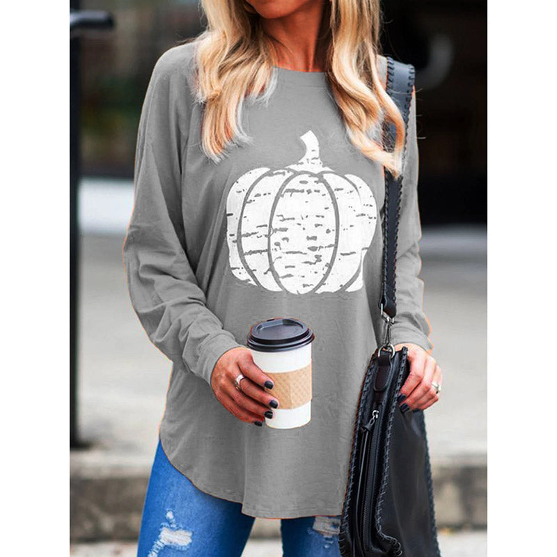 women's Long Sleeve Casual Abstract Blouses