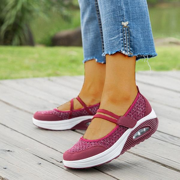 Women Resistant Shake Soft Mesh Rocker Daily Shoes