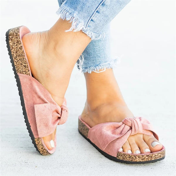 Fashion wild bow flat slippers