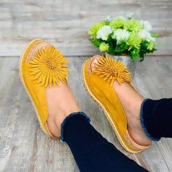 Summer Elegant Flower Slip On Slippers