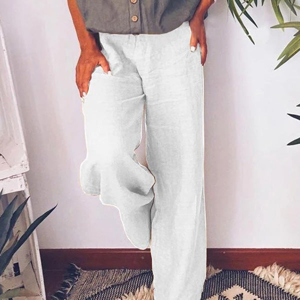 Straight Casual Large Size Wide Leg Pants