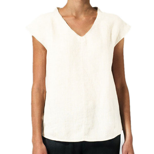 Solid Color Basic Simple Blouse