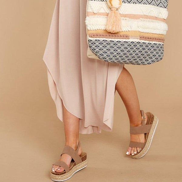 Simple Casual Platform Vacation Sandals