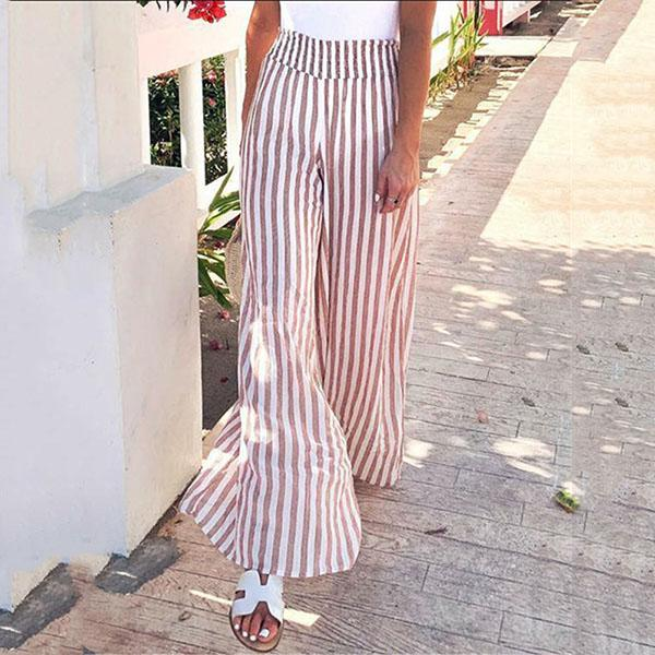Comfortable Loose Stripe Casual Pants