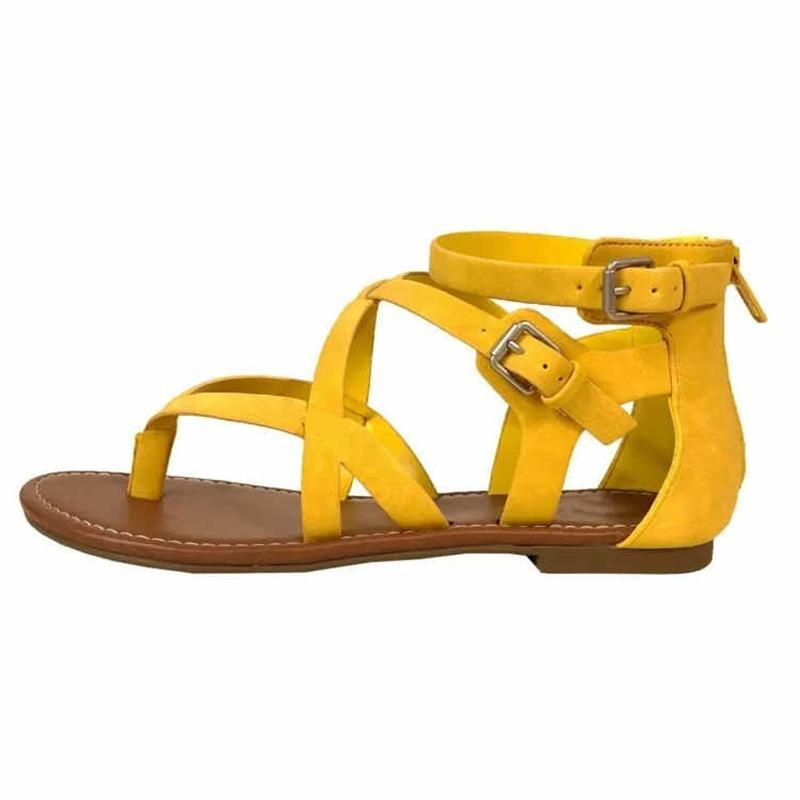 Fashion Wild Cross With Flat Toe Sandals