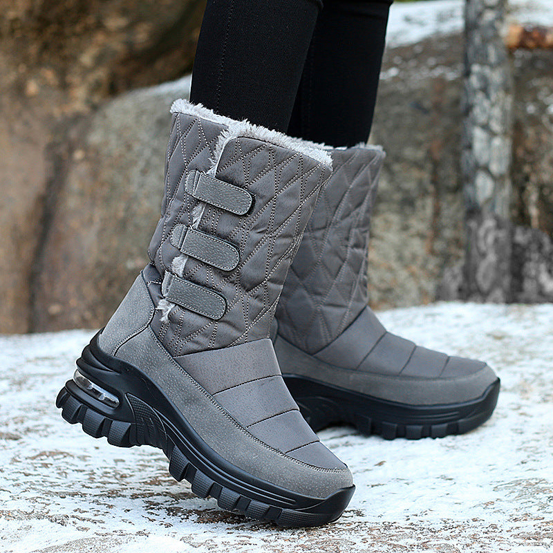 Winter Thermal Plush Non-Slip Platform Boots