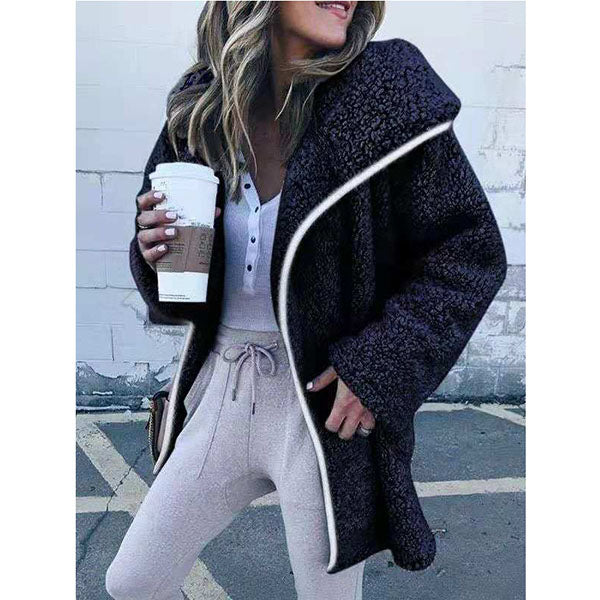 Casual Plus Size Solid Sweater Coats