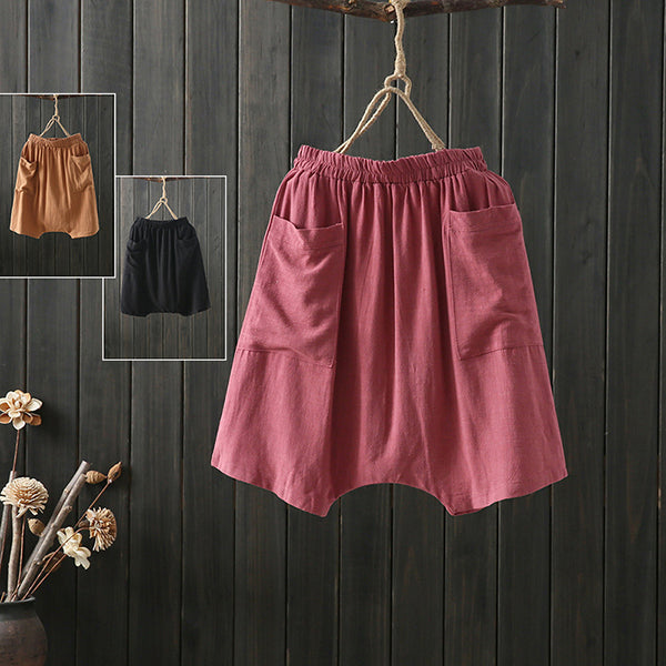 Loose Solid Color Loose Shorts