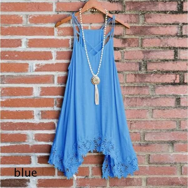 New Women Summer Loose Tank Top Dresses
