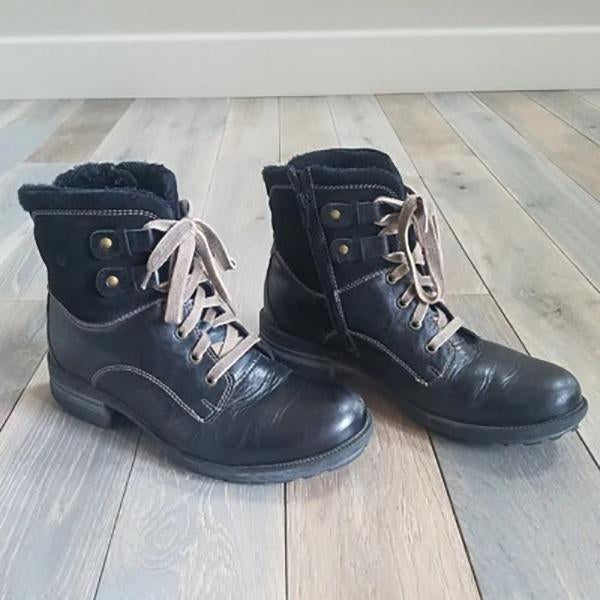Women's Vintage Lace-up Booties