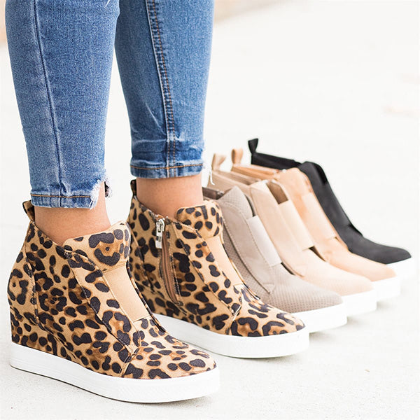 Women Chunky Heel Casual Sneakers