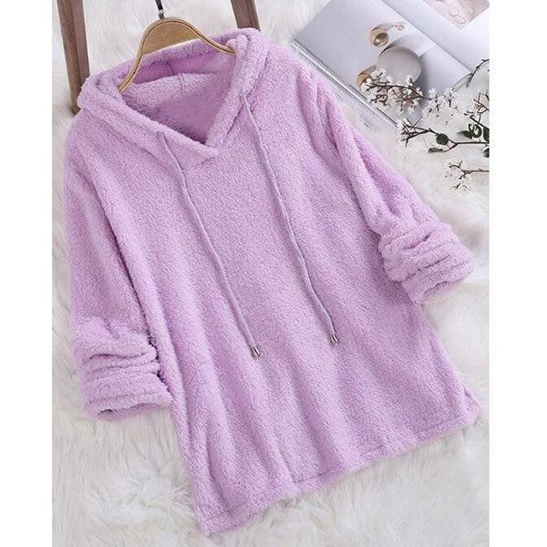 Casual Warm Solid Color Long Sleeve Hoodies