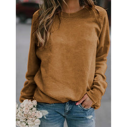 Long Sleeve Solid Color Shirts & Tops