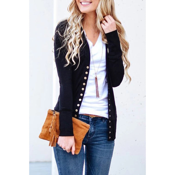 Long Sleeves Buttons Casual Cardigan Coats