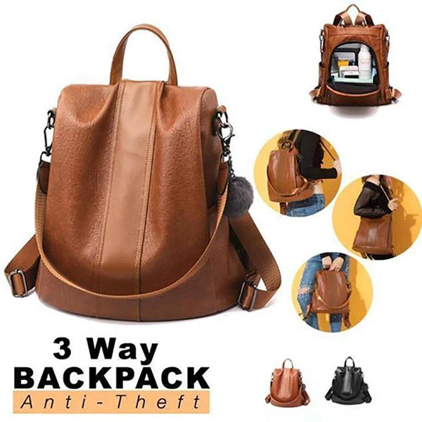3-Way (Backpack, Hand Bag, Shoulder Bag) Women's Backpack