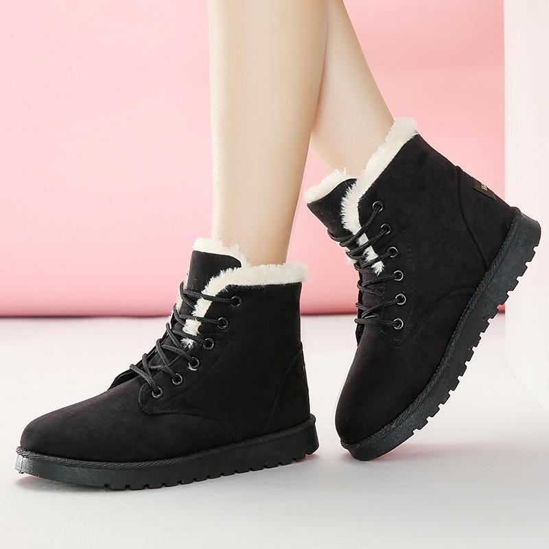Women Warm Insole Suede Ankle Snow Boots