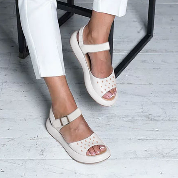 Comfortable Flat Solid Color Sandals