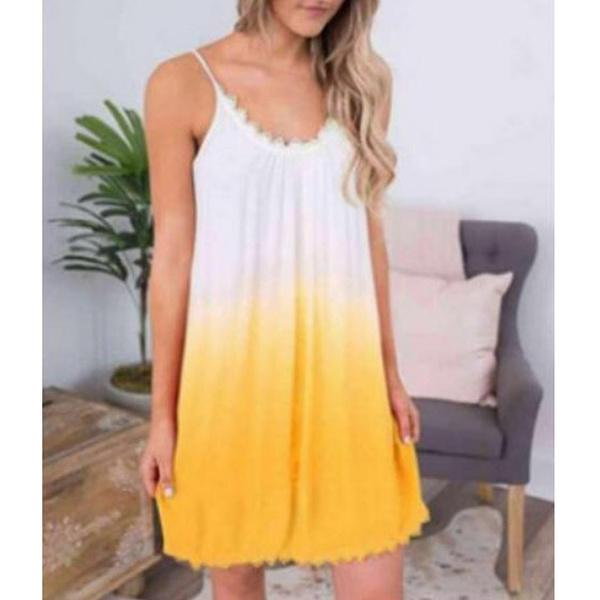 Summer Gradient Color Dress