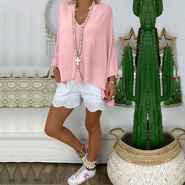 Casual Summer V Neck Blouse