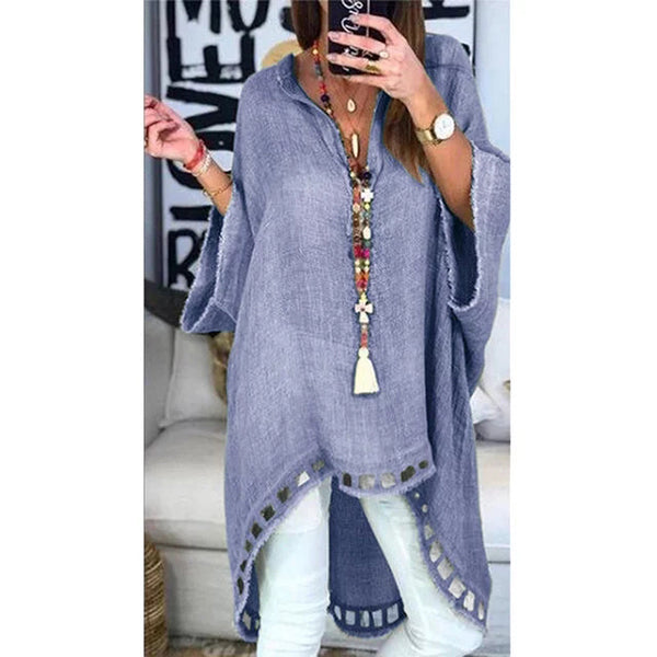 Casual Hollow Loose Irregular Blouse
