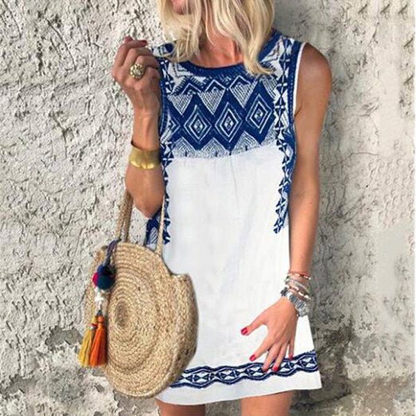 Boho Summer Plus Size Printed Casual Dresses