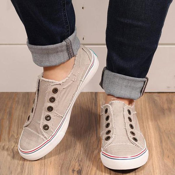 Casual Canvas Slip-on Sneakers