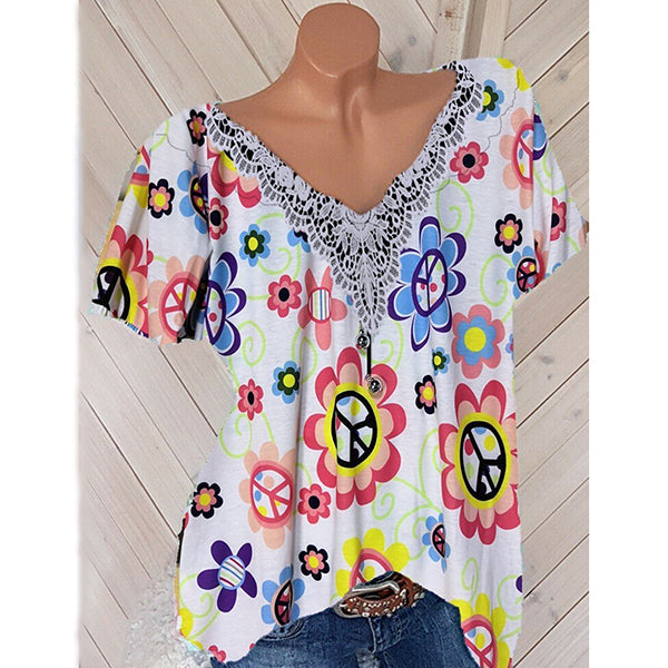 Plus Size Casual Women Summer Blouse