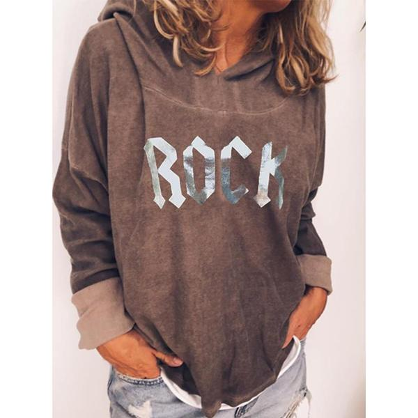 Women's Letter Printed Long Sleeve Hooded