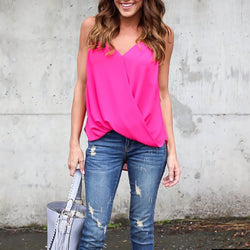 Sling Cross Chiffon Shirt Vest
