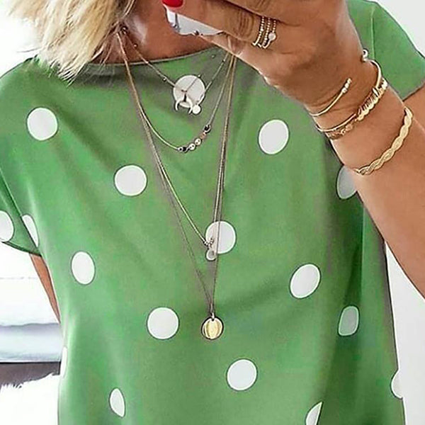 Casual Polka Dot Printed Loose Blouse