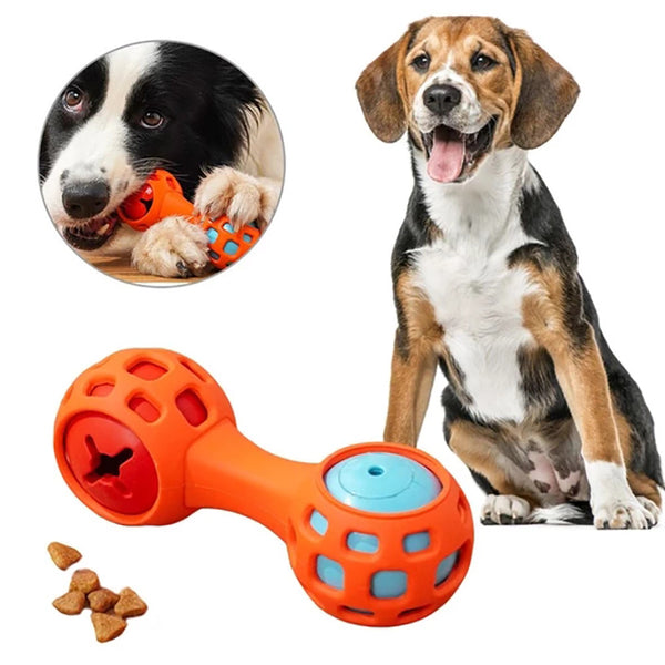 Dog Chew Toys Pet Dog Vocal Food Dispensing Ball
