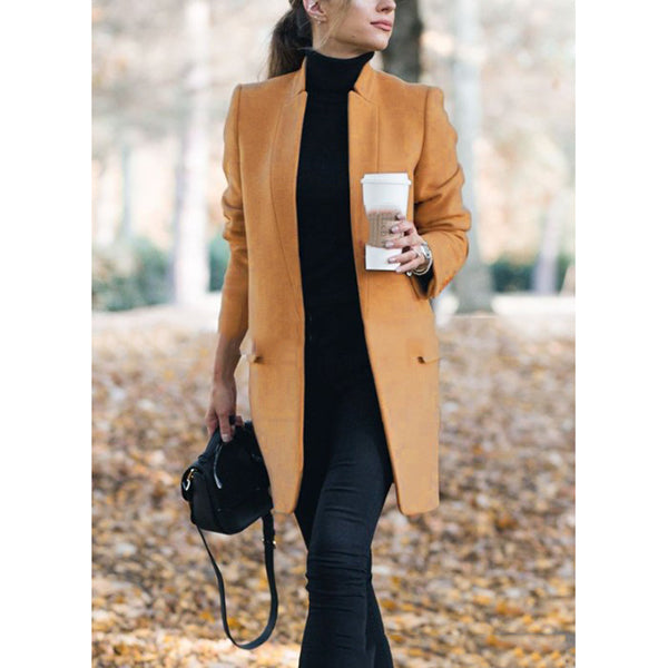 Women Winter Pocket Outerwear Coat