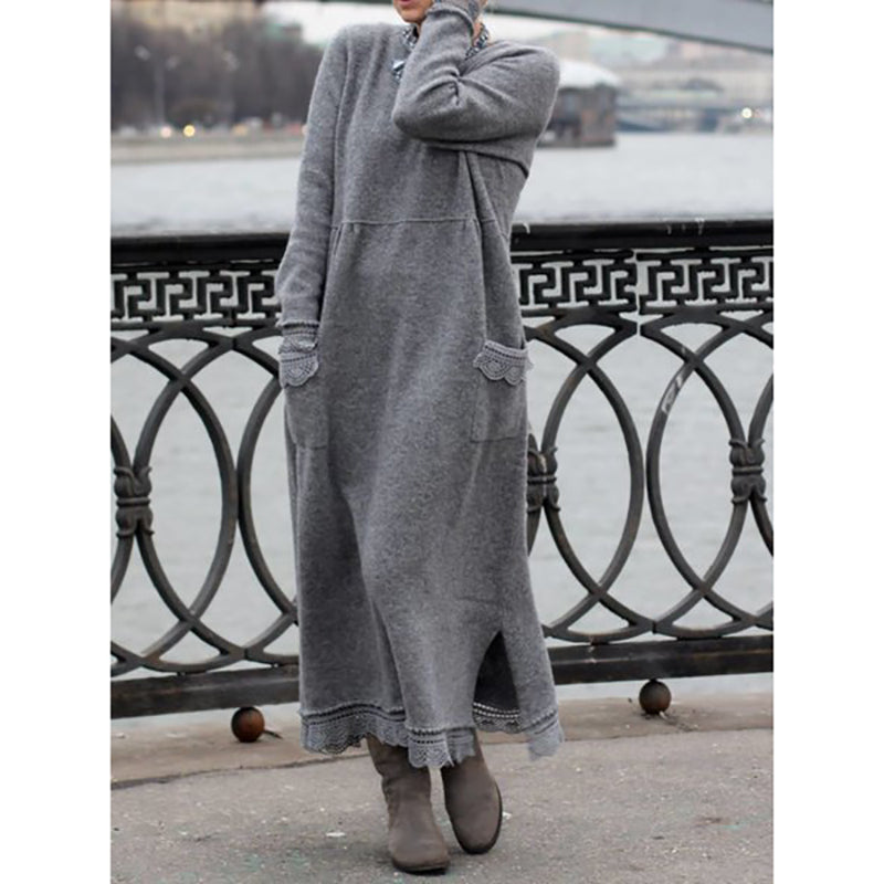 Women Winter Daily Casual Plus Size Dresses