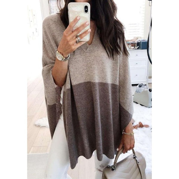 V-Neck Blouse Knitted Pullovers Casual Sweatershirt