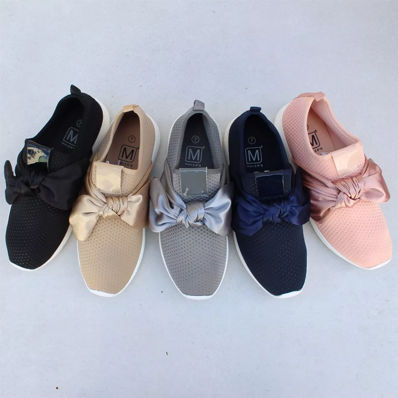 New Neutral  Bow Sneakers