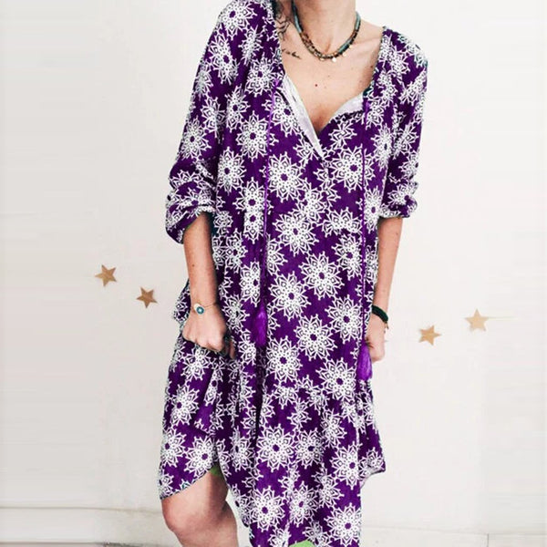 Plus Size Loose Print Dress