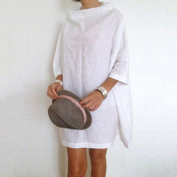 Turtleneck Loose Solid Color Dress
