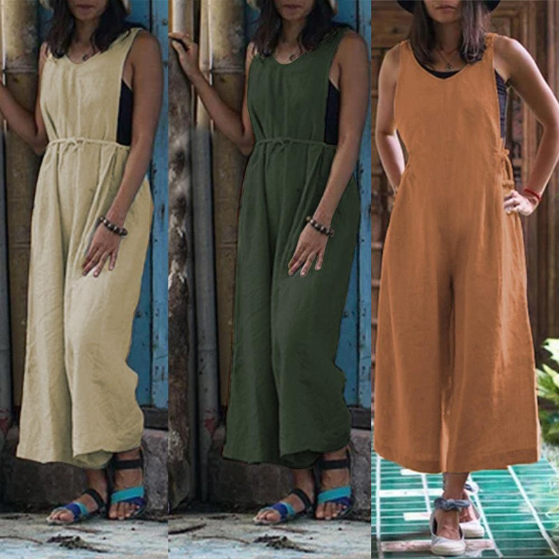 Women Sexy Solid Color Romper Outdoor Casual Jumpsuits
