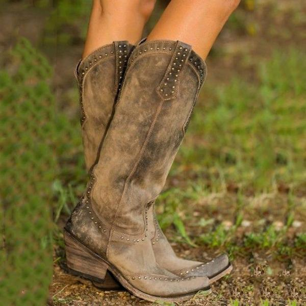 Plus Size Retro Women's Boots