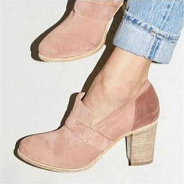 Women Solid Thick Heel Elegant High Heel Cute Shoes