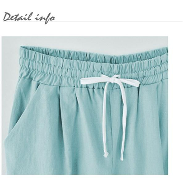 Summer Shorts Lace Up Elastic Waistband Loose Panties