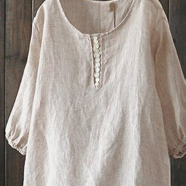 Plus Size Crew Neck Blouse