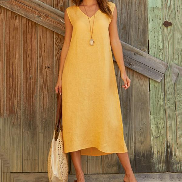 Elegant V Neck Maxi Women Dress