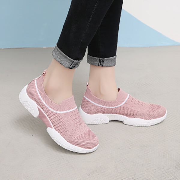 Solid Color Breathable Sneakers